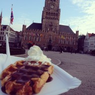 Belgian waffles at the Belfry