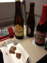 Belgian beers and chocolate - who needs first class?