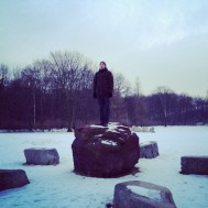 As we were in Berlin - a creative capital - we thought we'd do some improptu art installation pieces in the park..