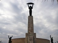 "Liberty monument. Ironically erected to celbrate the Soviet ""liberation"" from the Nazis. The Soviets then oppressed Hungary for 42 years, even shelling the city with tanks from this spot during one failed revolution."