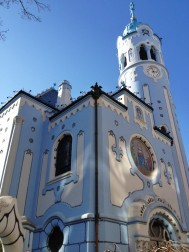 Locals call it the blue church (not sure why), It's officially the Church of Saint Elizabeth. We dubbed it - The cake church