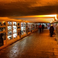 Pedestrian subway shops