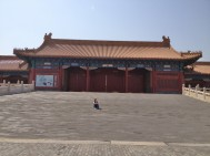 Inside the Forbidden city.