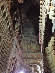 Carvings range from thousands of minute buddahs, to vast walls of storytelling.